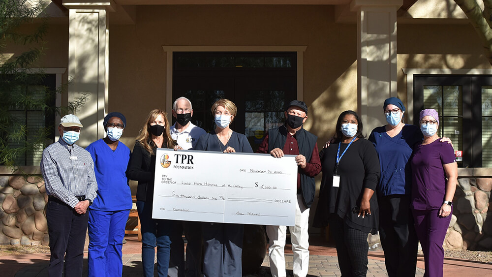 TPR Donates to Hospice of the Valley