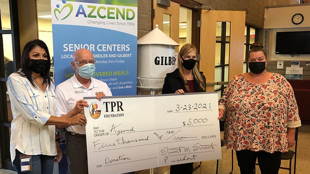 TPR Donates $5,000 to AZCEND March 2021