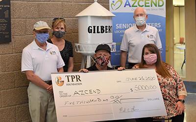 TPR Donates $5,000 to AZCEND June 2020