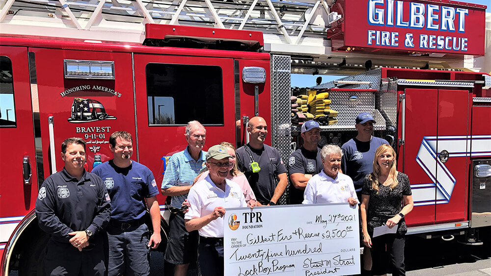 TPR Donates $2,500 to Gilbert Fire & Rescue May 2021